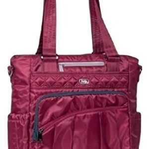 Lug Ace Tote - Cranberry with Gray Accent